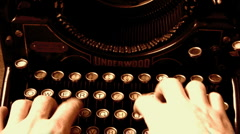 Stock Video Footage of typing with old typewriter
