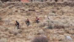 Mountain bikers 3 Stock Footage