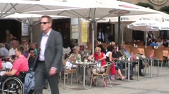 German Cafe Stock Footage