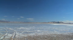 Panorama of Salt Lake Flats Stock Footage