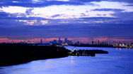 New Orleans distant at dusk Part II Stock Footage