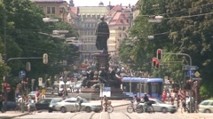 Maximilianstrasse in Munich Stock Footage