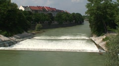 Isar Weir Stock Footage