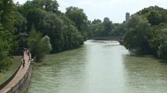 Isar River Stock Footage