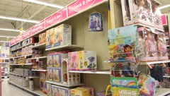 Shopping in Toy store - stock footage