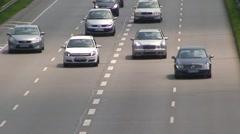 German Motorway Stock Footage