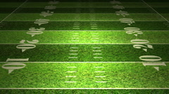 American Football Field Stock Footage