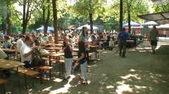 Munich Beer Garden Stock Footage