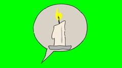 IDEA 01 (Candle) Stock Footage