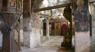 Interior of the Church of St Stephen, Nessebar, Bulgaria Stock Footage