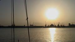 Sunrise in Port Sudan, Sudan Stock Footage