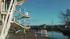 Water Sport Centre at River Tees White Water Course Stock Footage