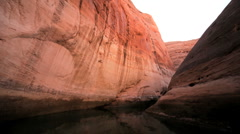 Sandstone Cliffs of Lake Powell, Arizona  Stock Footage