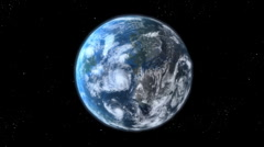 Earth Zoom - stock footage