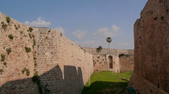 Acre fortress walls P1 Stock Footage