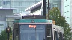 Bury Bound Metrolink Train Stock Footage
