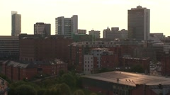 Manchester Skyline Stock Footage