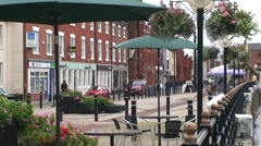 Hull Pedestrian Quayside Stock Footage