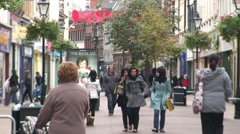 Hull Shopping Street Stock Footage