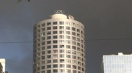 Cylindrical Tower in Rotterdam Stock Footage