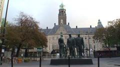 Rotterdam City Hall Stock Footage