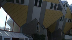 Stock Video Footage of Rotterdam Cube Houses