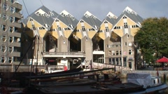 Cube Houses Stock Footage