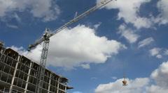 Crane Urban Scenic ED Stock Footage