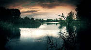 Lake Sunset Stock Footage