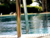 Swimming pool, dolly shot Stock Footage