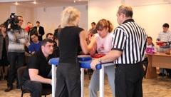 Arm wrestling - stock footage