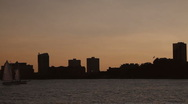 Stock Video Footage of The Hudson river and Jersey City