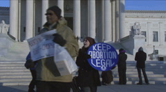 Pro-Choice rally at U.S. Supreme Court Stock Footage