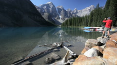 Moraine Lake Stock Footage