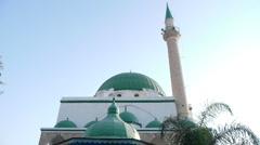 Acre Jezzar Pasha Mosque P4 Stock Footage