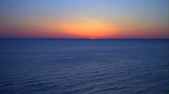 Peeking Sun over Bay Stock Footage
