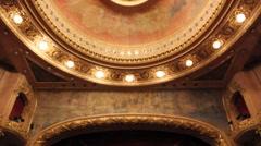 Theater interior - theatro municipal - Rio de Janeiro 06 Stock Footage
