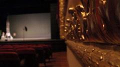 Theater interior - theatro municipal - Rio de Janeiro 08 Stock Footage