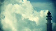 Lighthouse and clouds timelapse Stock Footage
