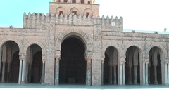 Great Mosque, Kairouan, Tunisia Stock Footage