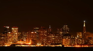 Time lapse San Francisco at night Stock Footage