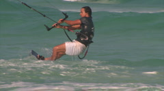 Wind surf away Stock Footage