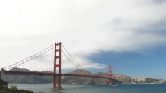 Time lapse Golden Gate Bridge Stock Footage