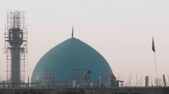 A mosque under construction in Kabul, Afghanistan. Stock Footage