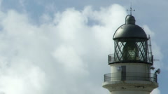Lighthouse and clouds timelapse, close up Stock Footage