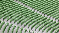 Many rows of seats in stadium. Stock Footage