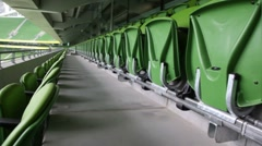 Green seats of stadium Stock Footage