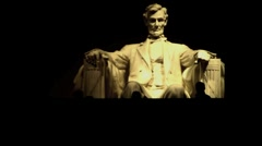 Lincoln Memorial At Night Stock Footage