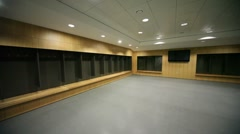 Locker room for sportmen Stock Footage
