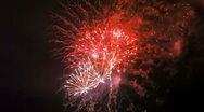 Stock Video Footage of Fireworks in the sky